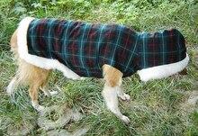 Pet apparel dog clothes big dog winter clothes large dog golden winter tartan