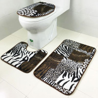 1 Set Washable Bathroom Carpet Toilet Seat Cover Toilet Bath Shower Pad Mat Rug Cotton Soft