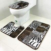 1 Set Washable Bathroom Carpet Toilet Seat Cover Toilet Bath Shower Pad Mat Rug Cotton Soft
