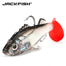 JACKFISH Soft Lure 15g Artificial Bait Silicone Sinking Fishing Lure Sea Bass For Carp Fishing Tackle Jig Head Soft Swimbait