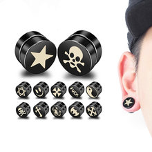 1PC Punk Mens Strong Magnet Magnetic Health Care Ear Stud Non Piercing  Earrings Fake Earrings Gift for Boyfriend Lover Jewelry d7399fd9a3e2
