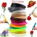 3 d Impresión Protección Del Medio Ambiente No tóxico Pluma Consumibles Filamento PLA HIPS1.75mm 3D Magic Pen Recargas-20 Colores