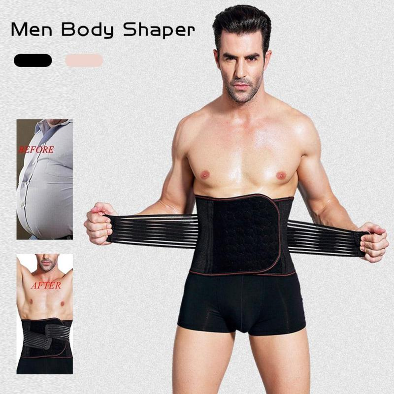 Slimming Waist Belt for Men Male Abdomen Fat Burning Girdle Belly Body Sculpting Shaper corset Cummerbund Tummy Slim Belt Z4