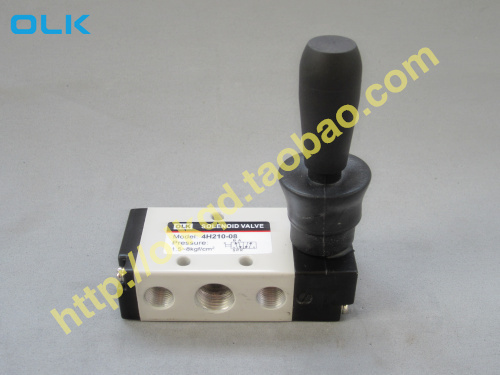 "Free Shipping 1/4"" 2 Position 5 Port  Air Manual valves 4H210-08 Pneumatic Control Valve"