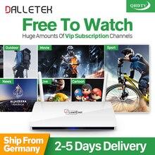 Dalletektv Leadcool Android Smart TV Box 1GB 8GB 1 Year Arabic IPTV French Europe abonnement 1200+Channels QHDTV media player