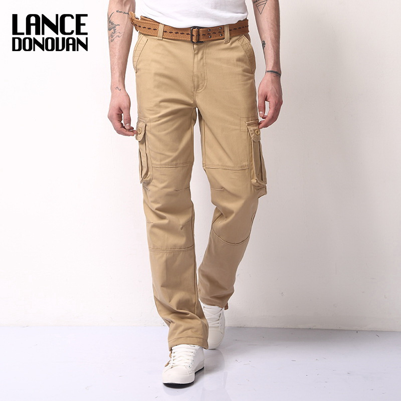 New 2019 Spring Cargo Tactical Pants For Men Casual Loose Style Multi Pocket Military Army Trousers Pluse Size 28-40 42 44