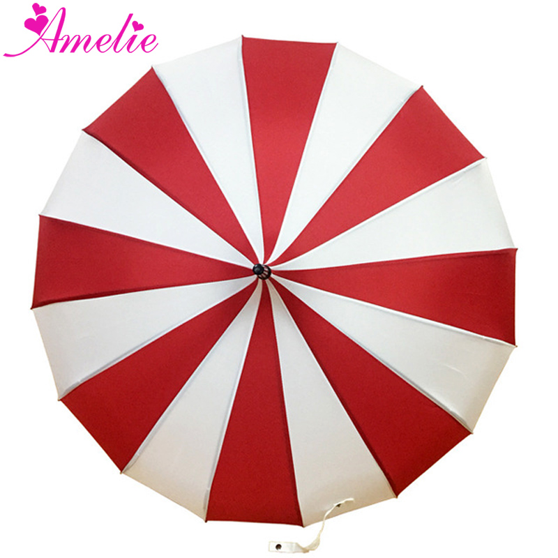 10pcs Classic Style Party Umbrella Stripe Pagoda Sun Umbrella Baby Shower Table Centerpieces Decorative Umbrella