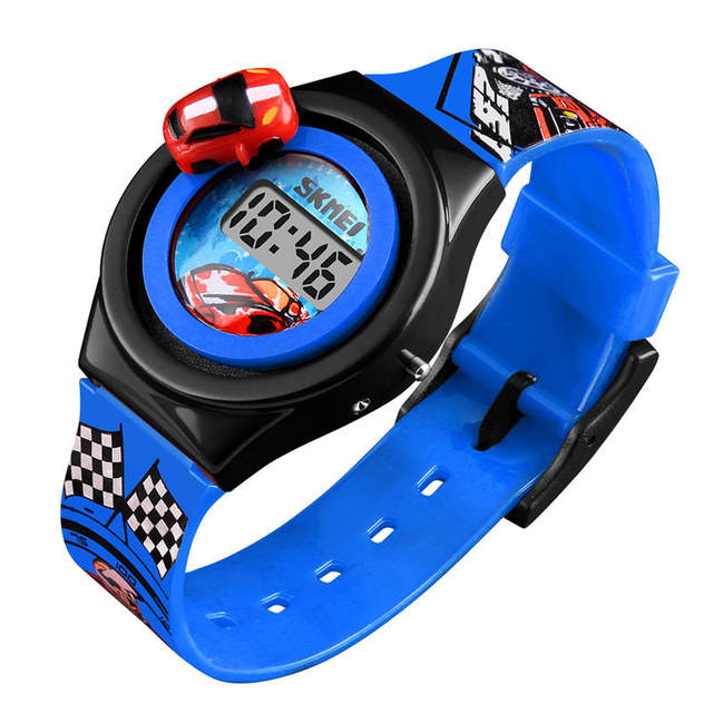 SKMEI Children's Watch Rotatable Car Child Watches Lovely Boy Girl Toy Clock Spo