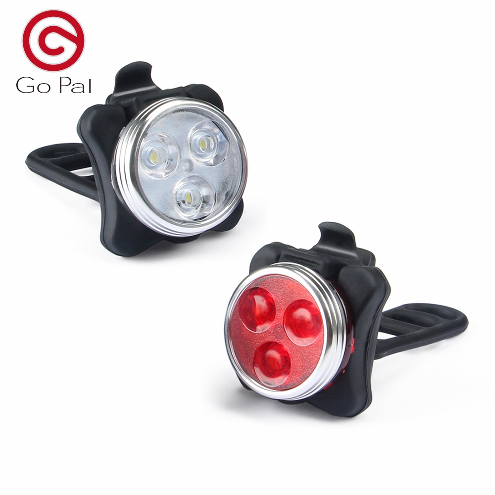 Go Pal Bicycle light USB led rechargeable Bike Headlight - Tail Light Included 4 models bike light Accessories свитшот print bar lets go pal
