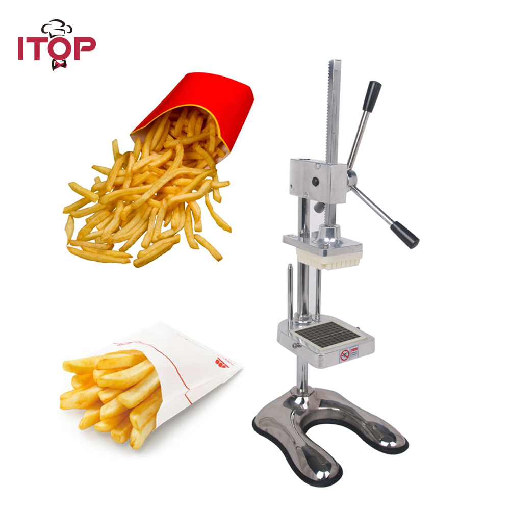 ITOP Français Frites Cutter Long Potato Chip Cut Cutter Légumes Trancheuse de Fruit De Cuisine Manuel Équipement Commercial Machine