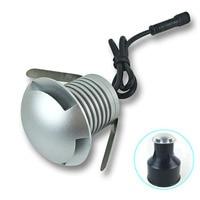 עמיד למים LED קבור אור DC 12 V 24 V מיני LED קומה סיפון מנורת 3 W גבוה בהיר אור LED מחתרת מנורות חיצוני נתיב