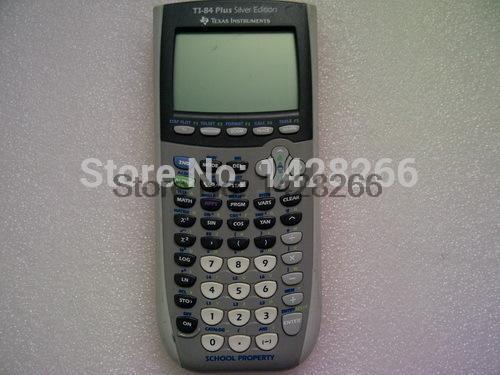 95% Новый вторая рука Техас Инструменты ti-84 плюс графический калькулятор солнечный свет calculatrice ручной калькулятор ...