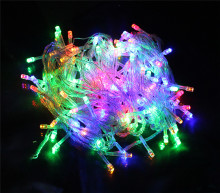 Led string light 10M 100led AC220V colorful holiday led lighting waterproof outdoor decoration light christmas light