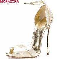 MORAZORA/Новые летние модные вечерние пикантные женские 11 см Обувь на высоком каблуке сандалии с пряжкой наивысшего качества свадебные туфли б