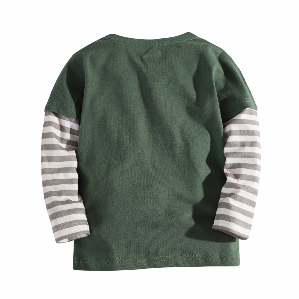 3 12 years boy t shirts long sleeve for children baby boy casual cartoon striped brand fashion boy t shirt boys Tops Tees in T Shirts from Mother Kids