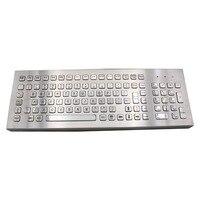 Desktop 103 Keys Metal Keyboard Stainless Steel Computer Keyboard For Industrial Kiosk