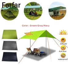 Forfar 200*140 см, 3 цвета, водонепроницаемый Пляжный тент, тканевый зонтик, однослойный прочный тент для путешествий, пикника, кемпинга, коврик