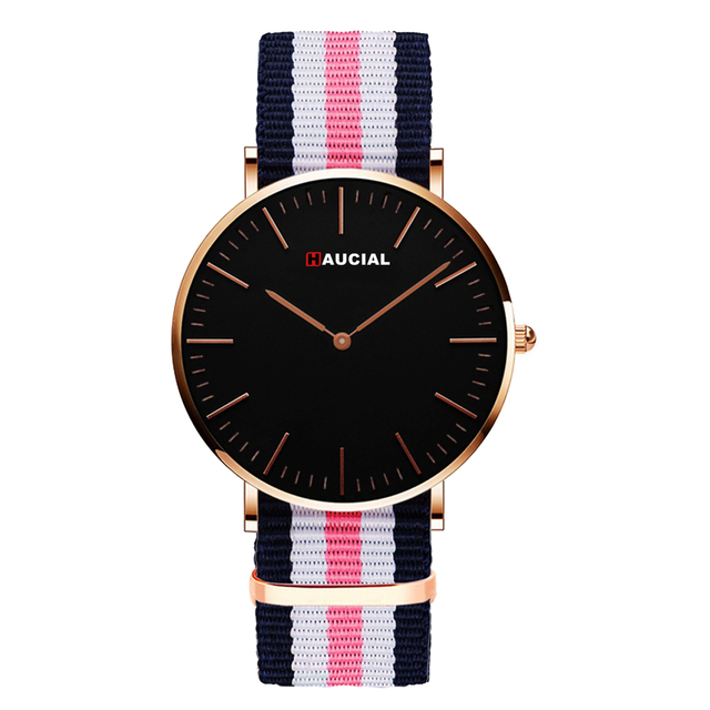 Fashion Nylon Quartz Watch For Men Women Simple Brand Couple Wristwatches Student Lover's Watches Colorful Waterproof Relogio