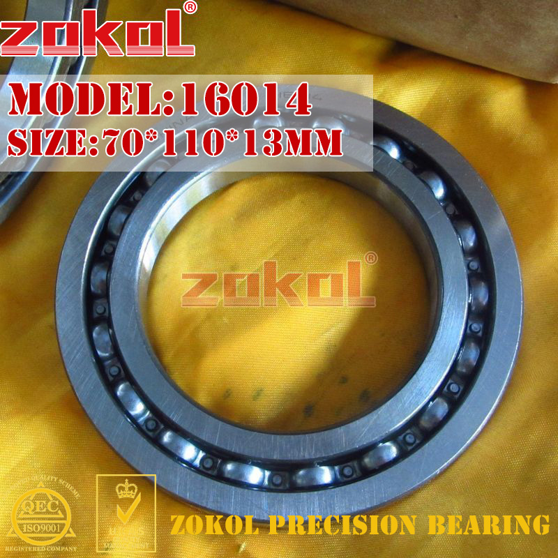 ZOKOL bearing 16014 Deep Groove ball bearing 70*110*13mm zokol bearing 6318 318 deep groove ball bearing 90 190 43mm