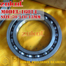цены ZOKOL bearing 16014 Deep Groove ball bearing 70*110*13mm
