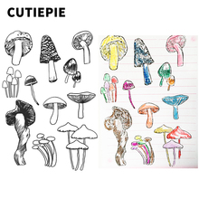 Cute Mushrooms Transparent Clear Rubber Stamps for Scrapbooking Silicone Photo Album Embossing Cards Paper Making Decor Stencils