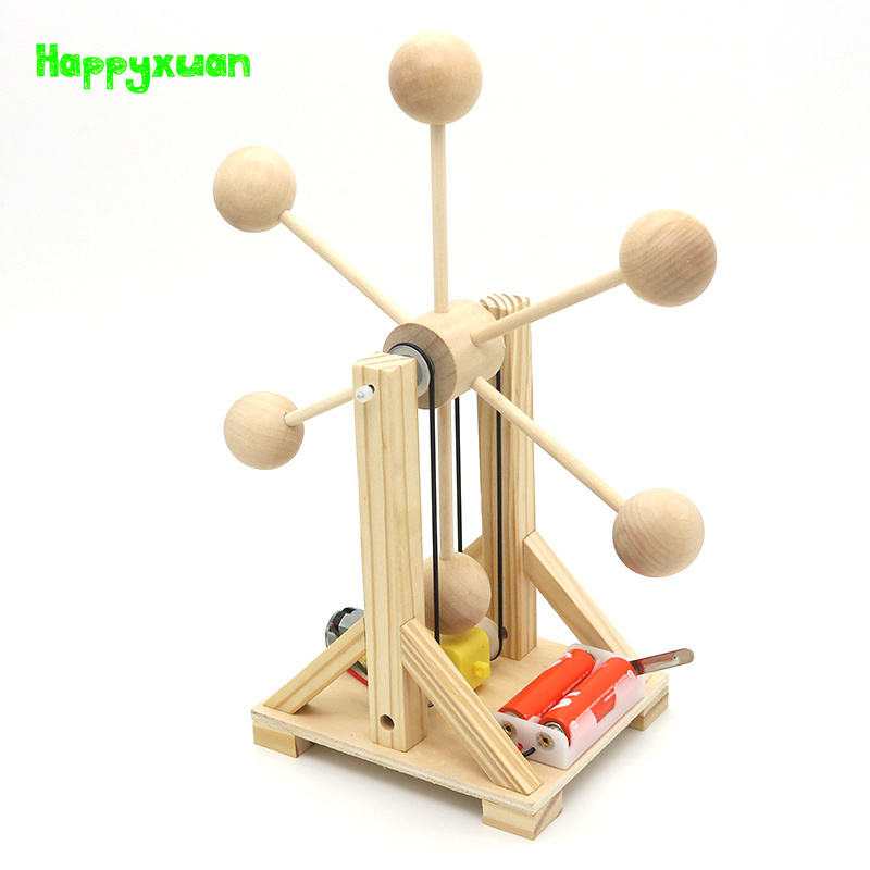 Happyxuan Wooden Electric Ferris Wheel Experiment Science Kit Physical Educational Gift Assembly Model Creative Toys for boys