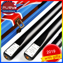 FURY SN62 3/4 Piece Snooker Cue Kit with Case Extension Black 8 Stick 9,5mm 10mm Tip Billiard Maple Ash Shaft