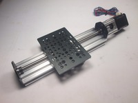 Funssor 1set*NEMA 17 V Slot Linear Actuator Bundle (TR8 Lead Screw) Z axis router kit 250mm Profile