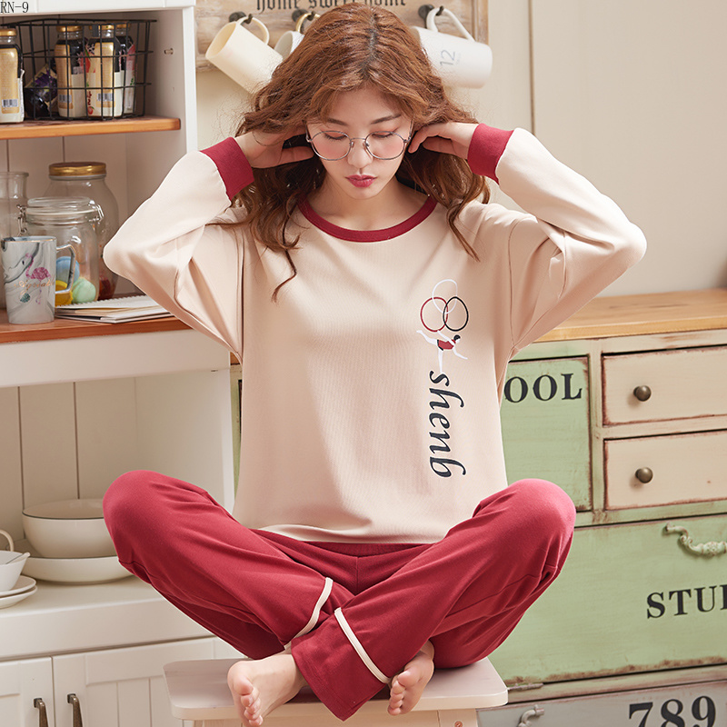 high quality Autumn winter new Women's   Pajamas     Set   girl cotton pyjamas Women Sleepwear Suit 3XL plus size Casual homewear Female
