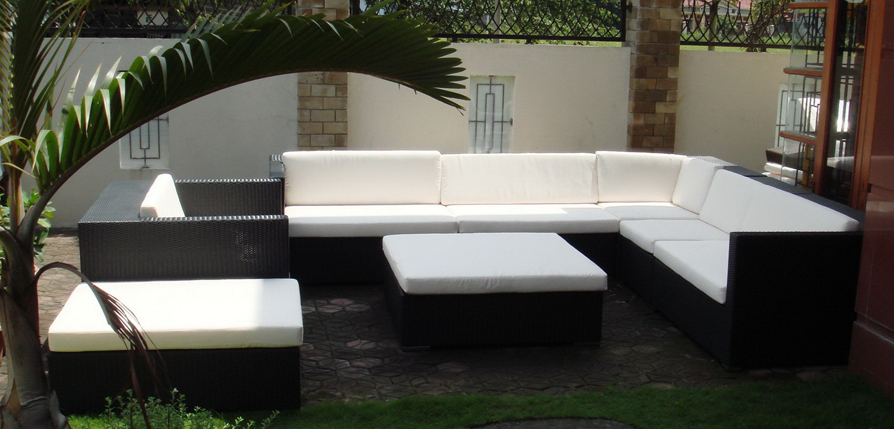 hot sale all weather outdoor pvc wicker composite used hotel patio