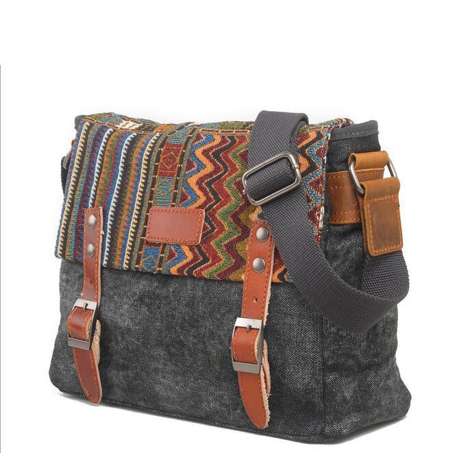 082117 yesetn bag men popular canvas single shoulder cross body bag