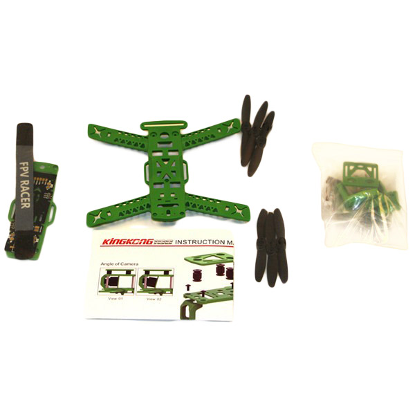 Kingkong 188 188mm Frame kit with 3PCS 4045 Propellers Antenna Mount LED Strip
