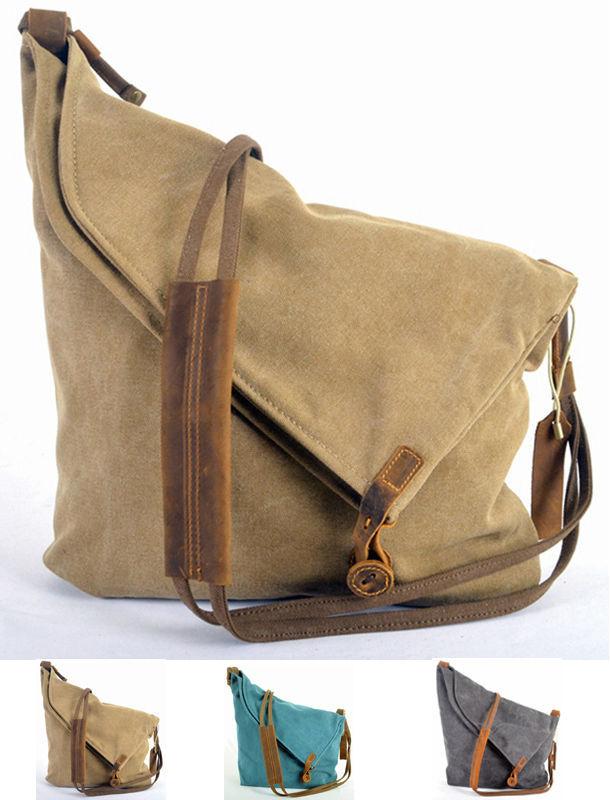 937c285b23 Retro 2019 New Leather Military Canvas Men s Messenger Bag Women Shoulder  Bags for men Crossbody Bag