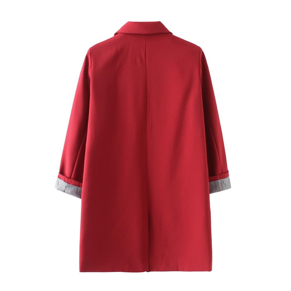 Bella Philosophy 2018 Spring women plus size long jacket double pockets long sleeve jacket coat S-XXXL outwears 5