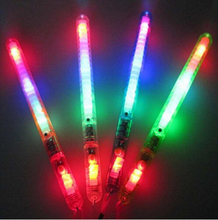 12PCS Flashing Wand LED Glow Light Up Stick Patrol Blinking Concert Party Favors Glow in the