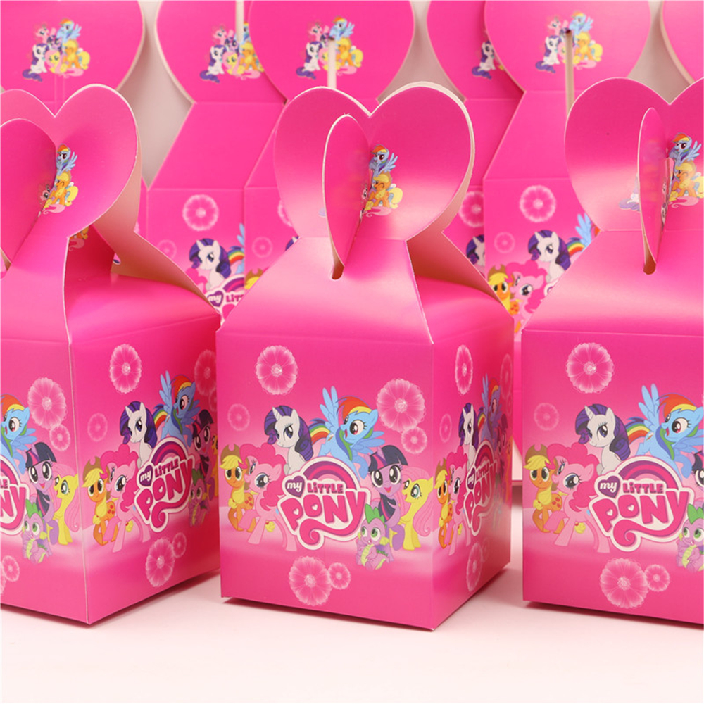 12pcs my little pony style candy box birthday theme party supplies ...