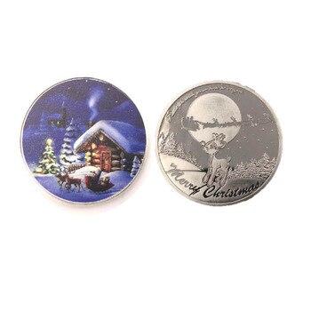 Regalos de vacaciones Moneda de recuerdo 999,9 plata plateada Navidad Metal Monedas niños mejores regalos conmemorativos moneda colección