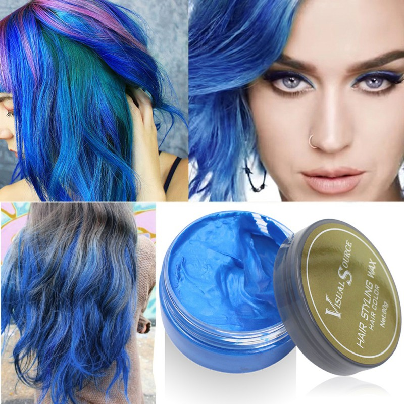 Grey Hair Wax Modeling Hair Diy Blue Red White Purple Hair Color
