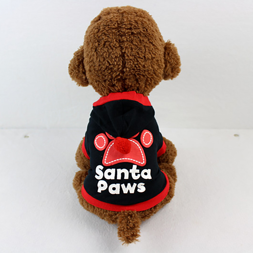 Small Dogs Costume Clothes For Little Dogs Overalls Lovely Puppy Christmas Dog Clothes Footprints Hoodie