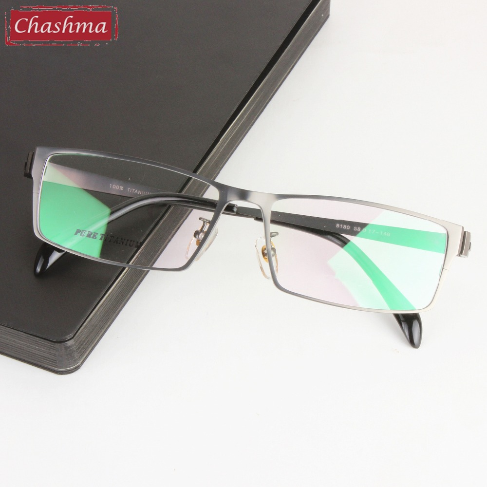 Chashma Brand Glasses Gentlemen Pure Titanium Eyeglasses Wide Frame Opticos Gafas Large Size Men Eye Glasses Rammer til Big Face