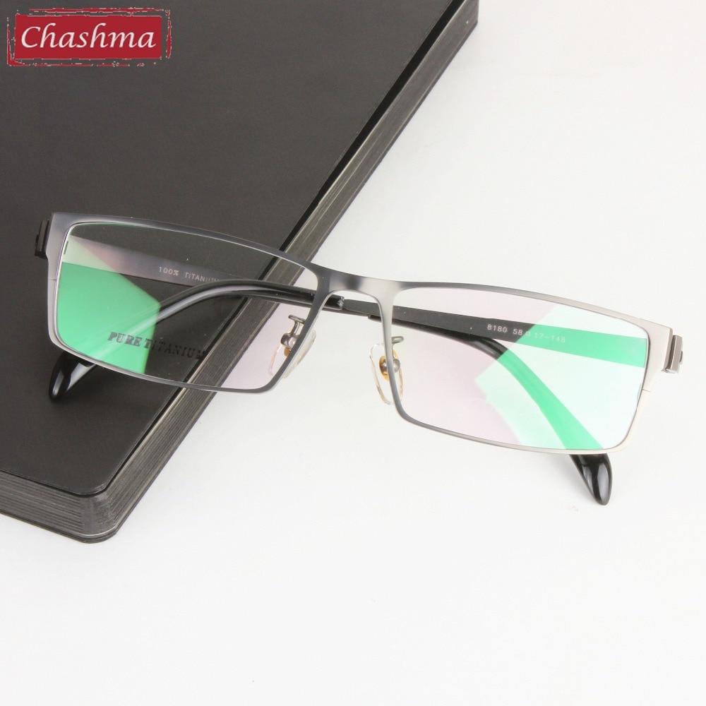 Chashma marque lunettes messieurs titane pur lunettes Large cadre Opticos Gafas grande taille hommes lunettes montures pour grand visage