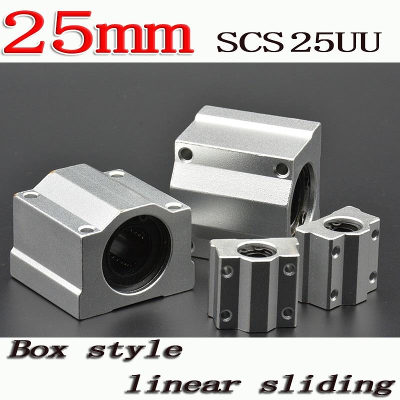 2pcs/lot SC25UU SCS25UU 25mm Linear Ball Bearing Linear Motion Bearing Slide For CNC Free Shipping