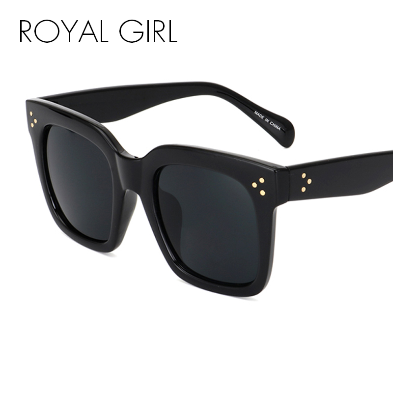 ROYAL GIRL 2018 New Brand Square Sunglasses for women Vintage Retro Sun glasses Female Acetate Frame Glasses UV400 ss295