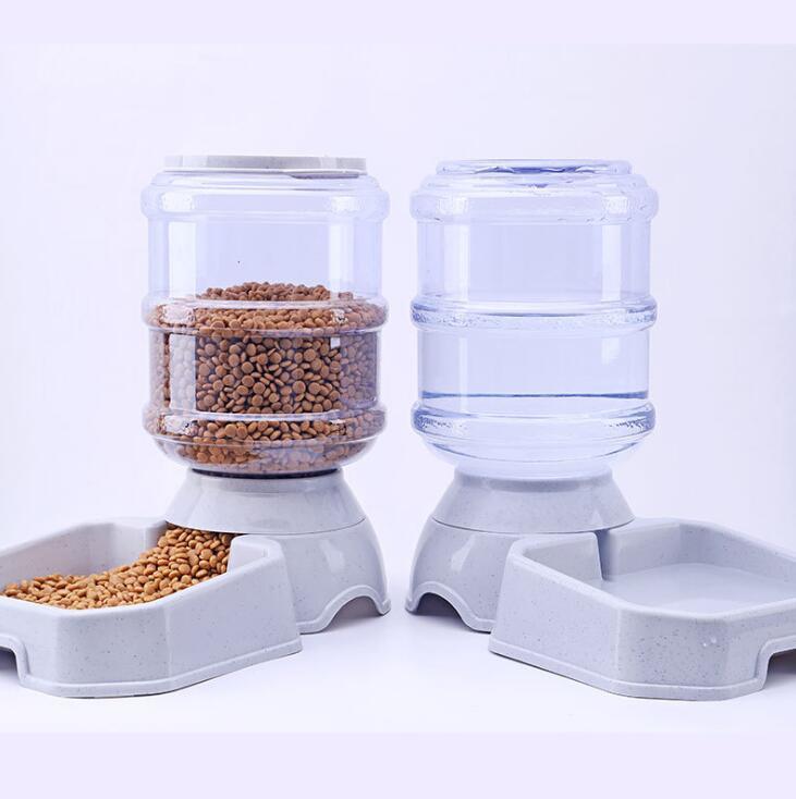 3.8L mascotas alimentador automático de perro gato tazón de agua potable del perro gato alimentación gran capacidad dispensador Pet gato perro
