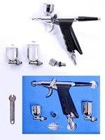 Kit 0.3mm Agulha dupla Ação da escova De Ar Escova de Ar do Pulverizador arma para o Carro Decoração Art tattoos pro pincéis sem compressor