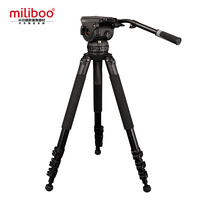 miliboo M18L Professional Broadcast Movie Video Tripod Fluid Head Load 18 kg Max Height 81 for Camcorder/DSLR/Camera Stand