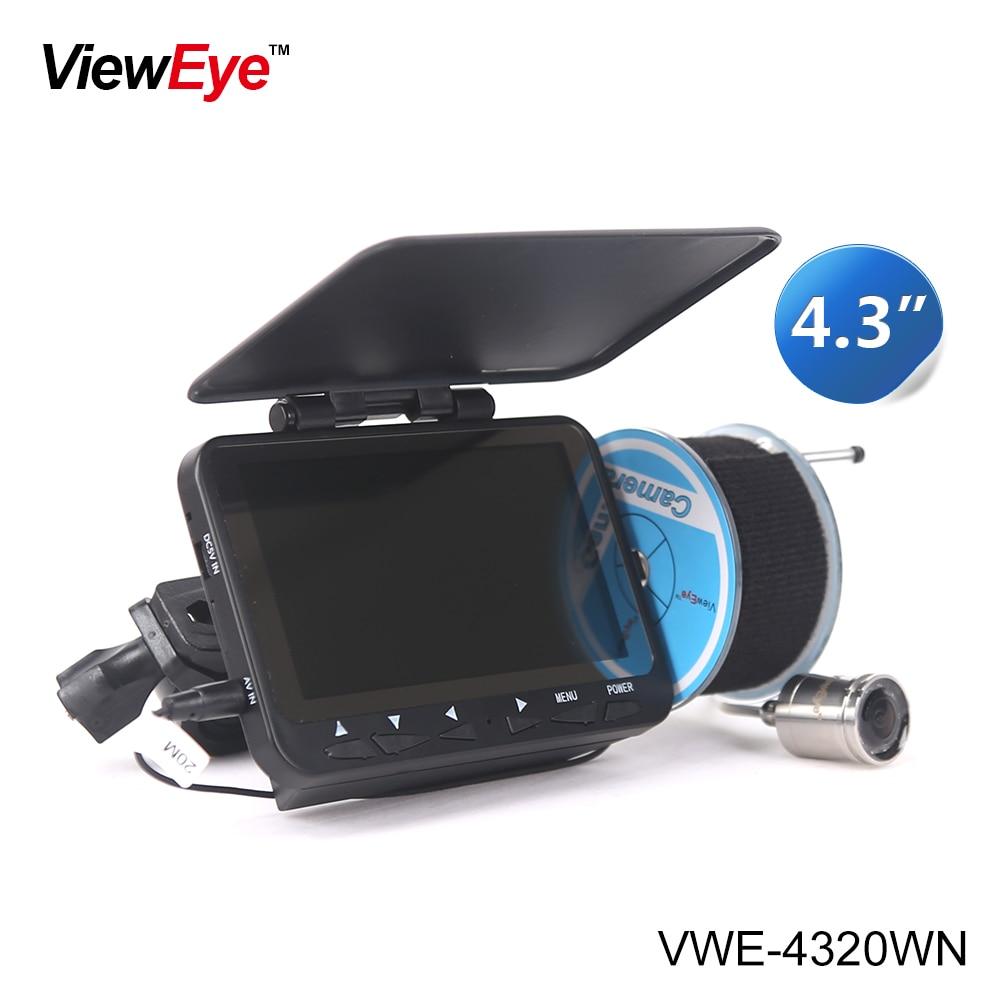 ViewEye Original 20M 1000TVL Fish Finder Underwater Fishing Video Camera Monitor AntiSunshine Shielf Sunvisor Infrared IR