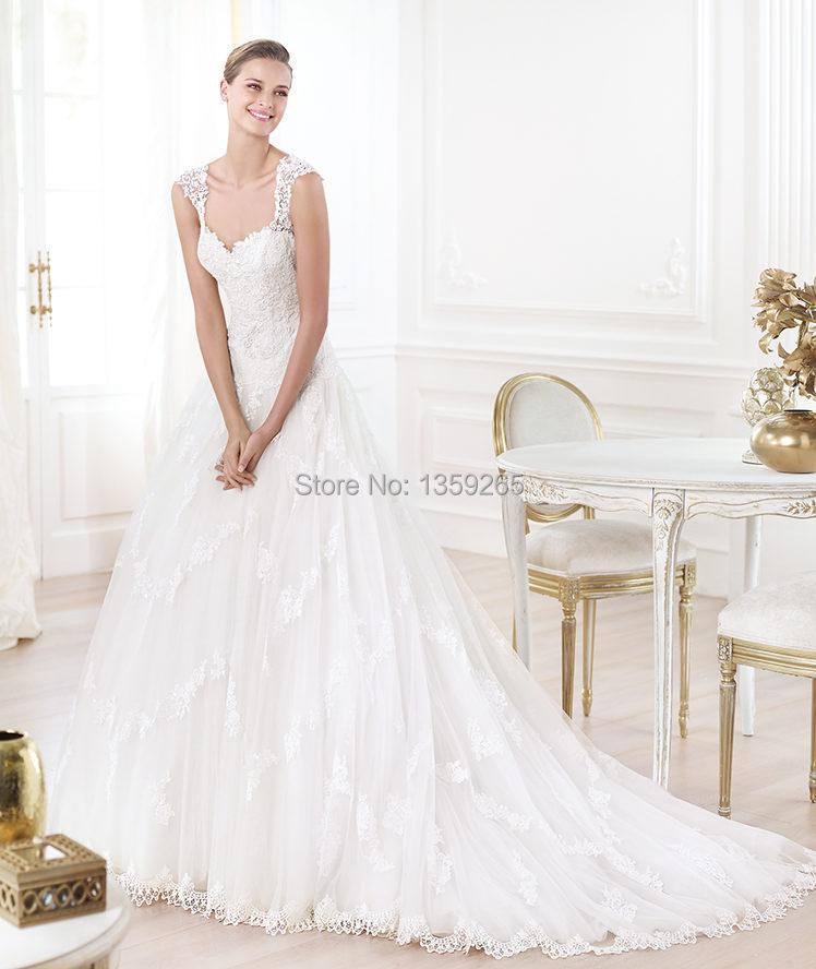 Low Back 2014 Venus Wedding Dresses with Lace Appliques Vestidos De ...
