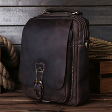 Genuine Leather Men's Briefcase Messenger Bags Business Handbags Man Cross-body Leather Vintage women Shoulder Bag 5066 15%
