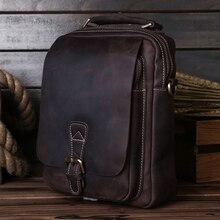 Handbags Tote Messenger-Bags Cross-Body Vintage Business-Man Genuine-Leather Flap Men